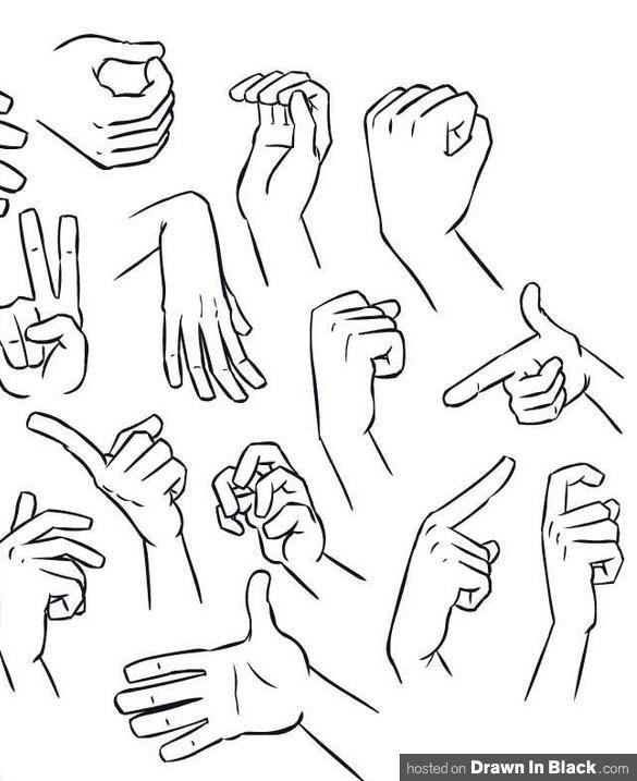 585x717 Drawn Fist Hand Posture