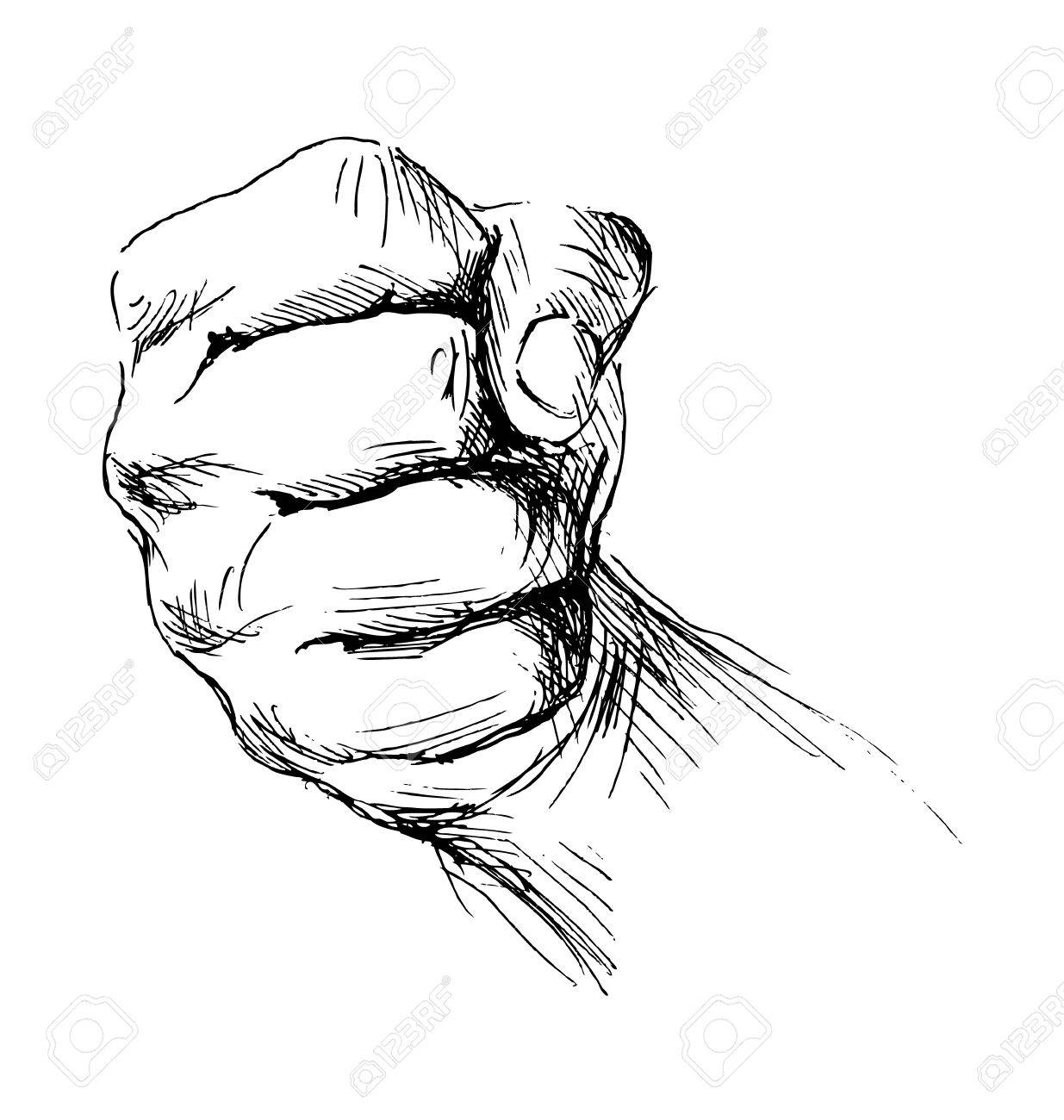 1235x1300 Hand Sketch Clenched Hand Royalty Free Cliparts, Vectors,