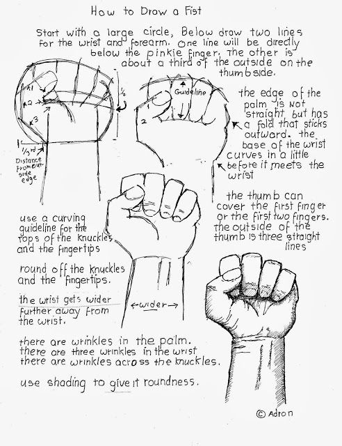 492x640 How To Draw A Clenched Fist Worksheet. Drawing Basics