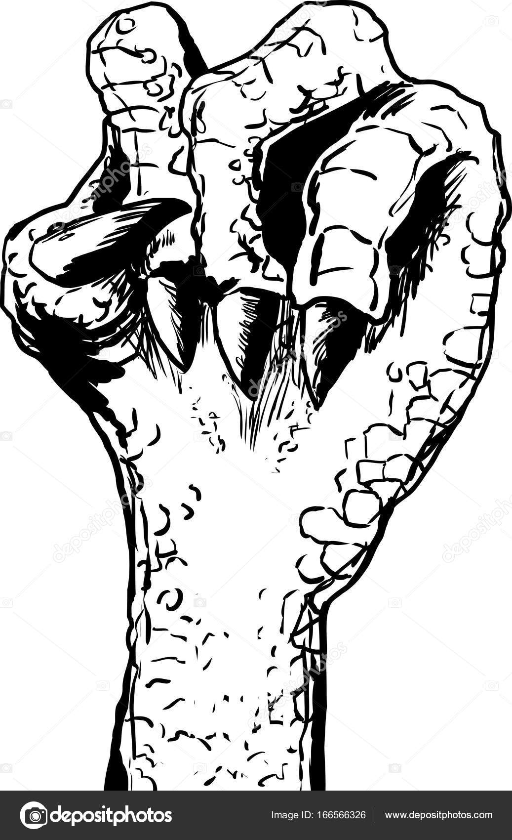1037x1700 Lizard Clenched Fist Outline Stock Vector Theblackrhino