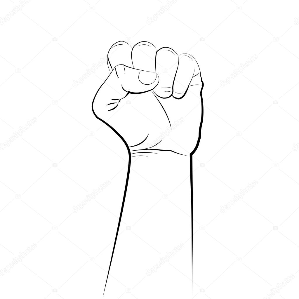 1024x1024 Male Clenched Fist Hand Stock Vector Toure99