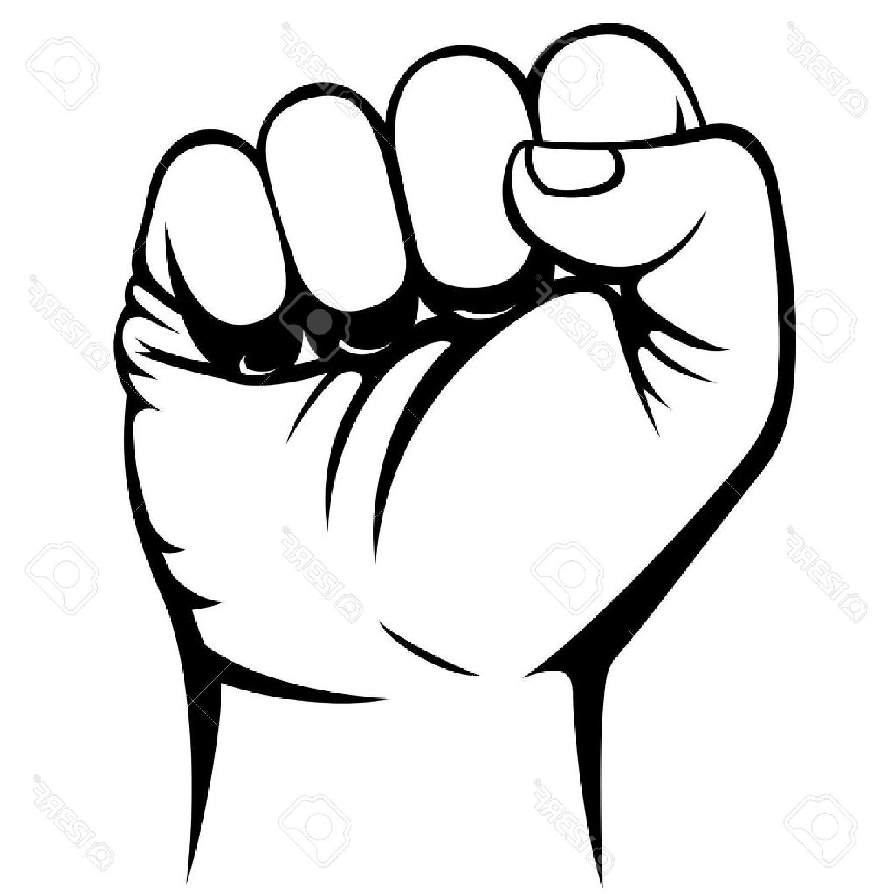 1300x1300 Best Free Male Clenched Fist Hand Stock Vector Image