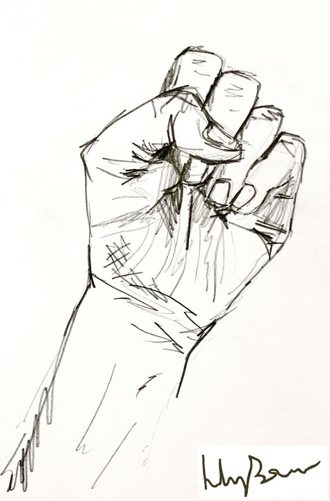 475x720 Clenched Fist Drawing