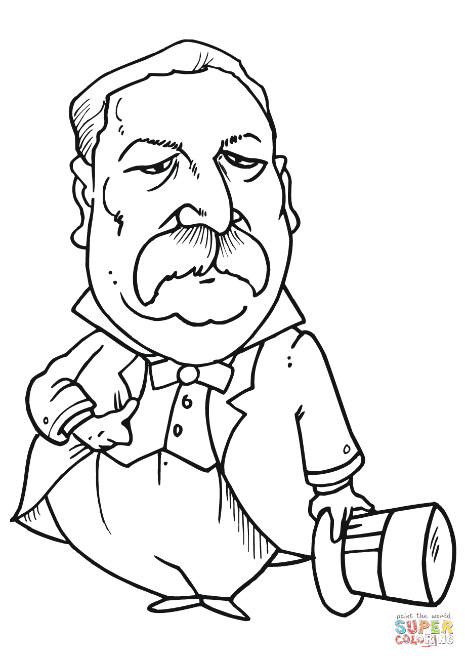 919x1300 Grover Cleveland Caricature Coloring Page Free Printable