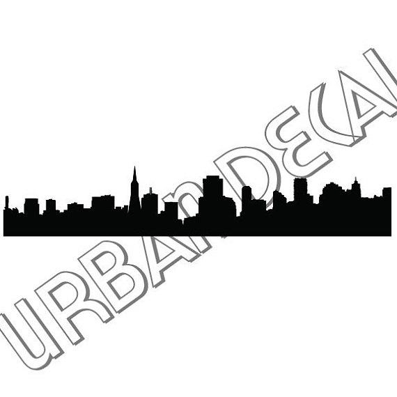 570x570 San Francisco Skyline Decal Vinyl Sticker For Car Window