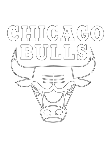 360x480 Chicago Bulls Logo Coloring Page Free Printable Coloring Pages