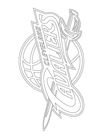 360x480 Cleveland Cavaliers Logo Coloring Page Free Printable Coloring Pages