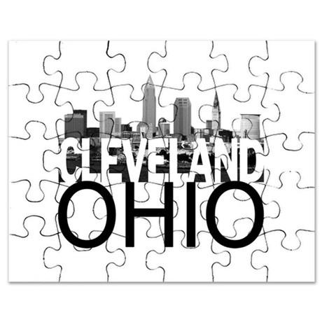 460x460 Cleveland Skyline Puzzle By Theallcity