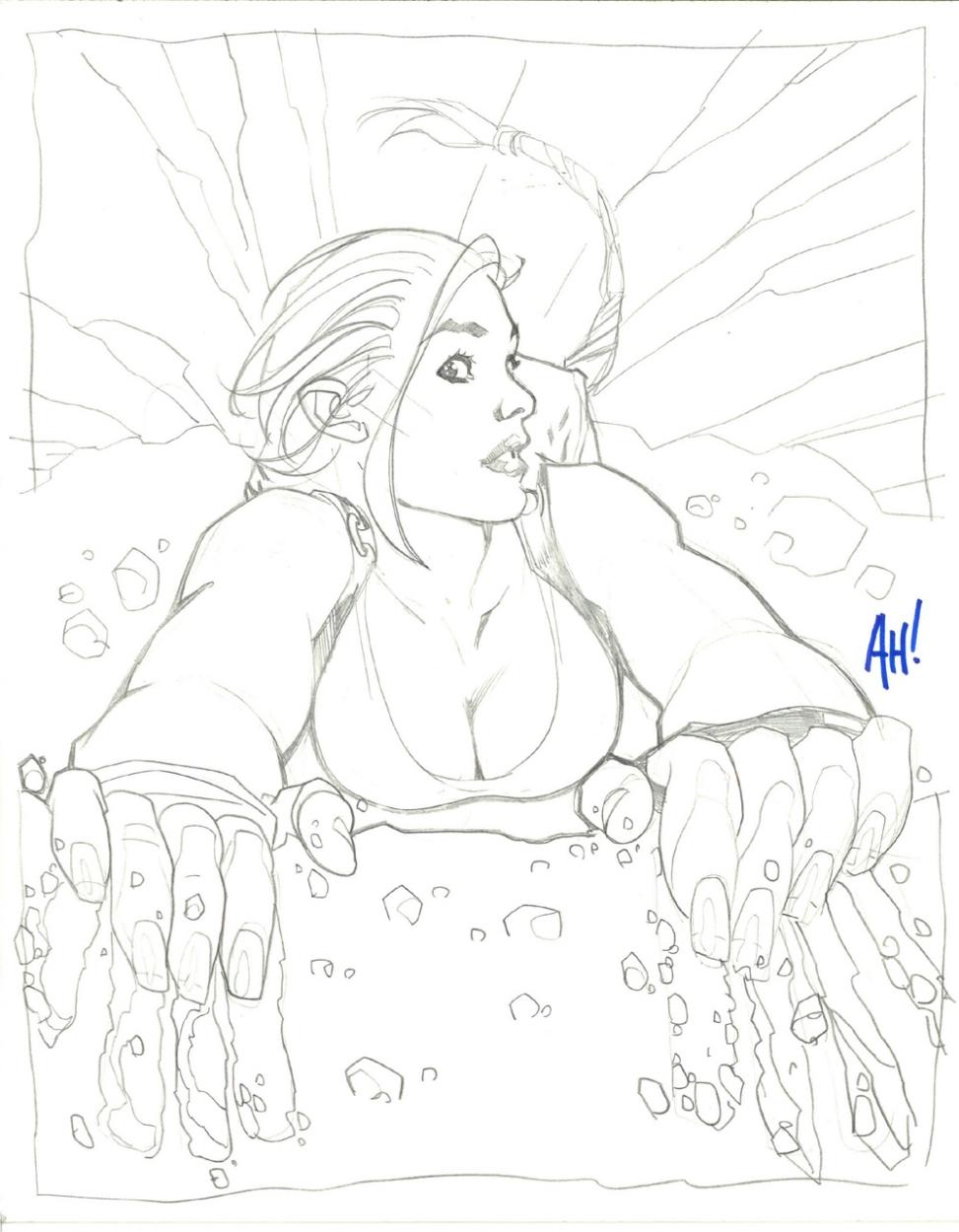 973x1250 Laura Croft Cliff Drawing, In Brian Tidwell's Ah! Comic Art