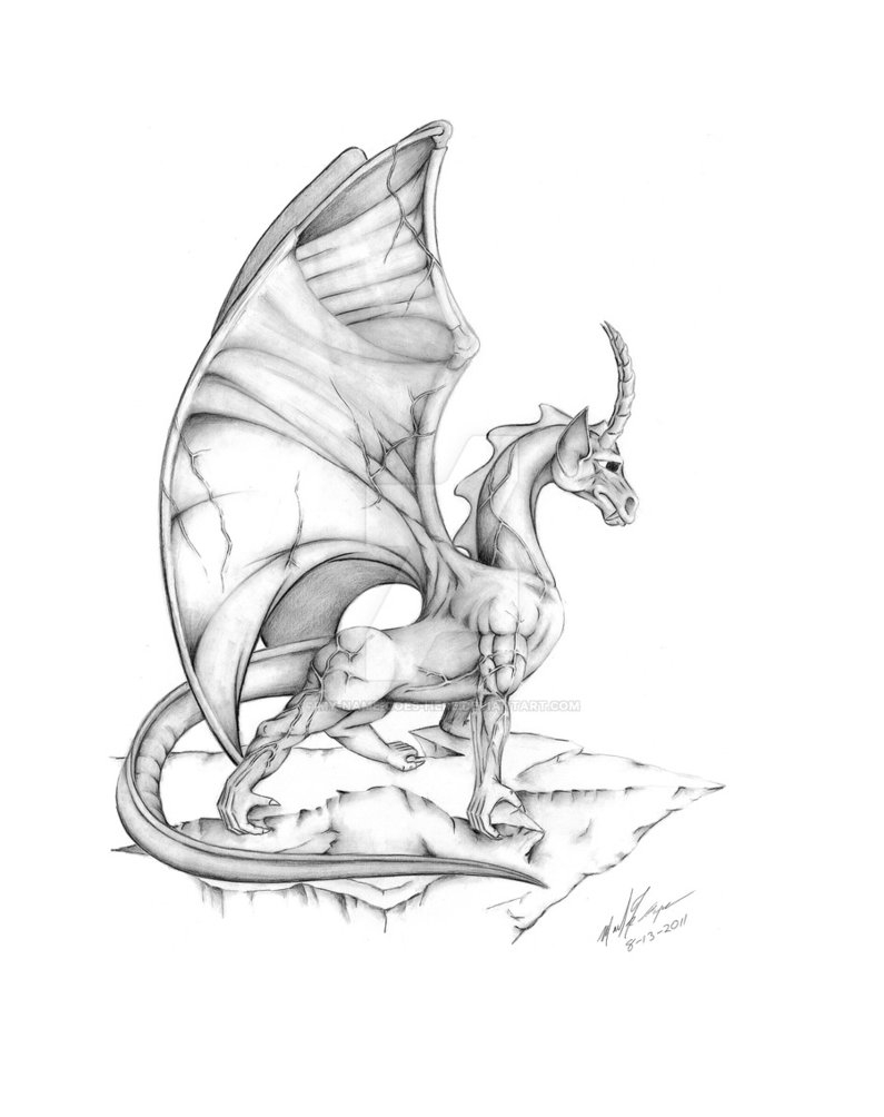 795x1004 Another Dragon Looking Over A Cliff By My Name Goes Here