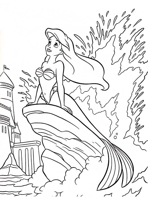 600x799 Walt Disney Princesses Ariel Sitting