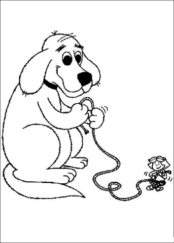 343x480 Clifford Giant Coloring Page Free Printable Coloring Pages