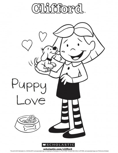 410x530 Clifford's Puppy Love Coloring Sheet Parents