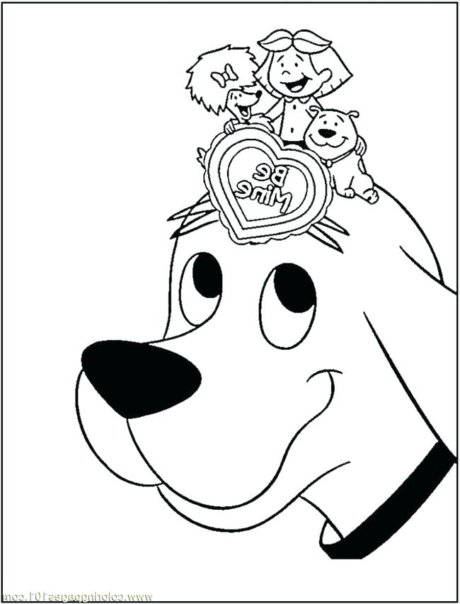 650x853 Clifford Coloring Coloring Pages Playing With Friends Cartoons