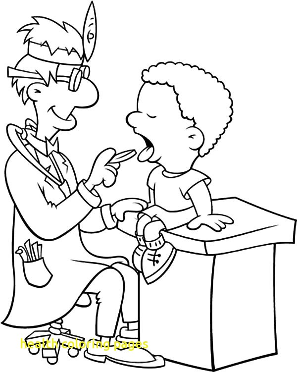 600x751 Health Coloring Pages With Health Teeth Clinic Coloring Pages