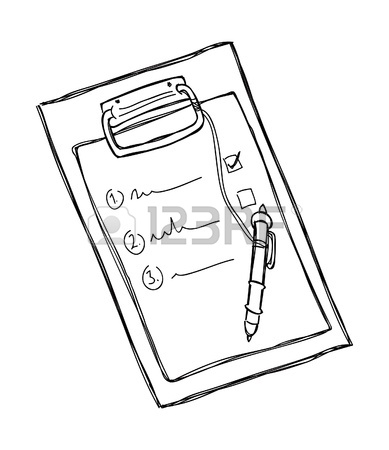 389x450 Clipboard And Pen Royalty Free Cliparts, Vectors, And Stock