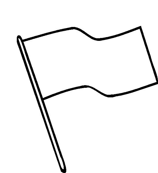 546x597 Flag Outline Clip Art