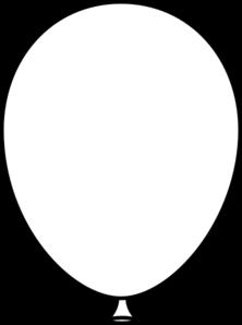 222x298 White Balloon Bold Clip Art