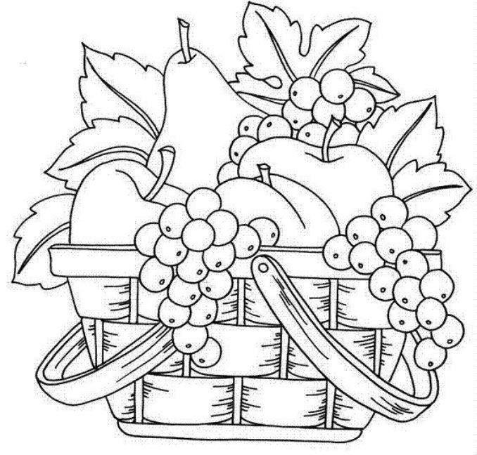678x648 Fruit Basket Art