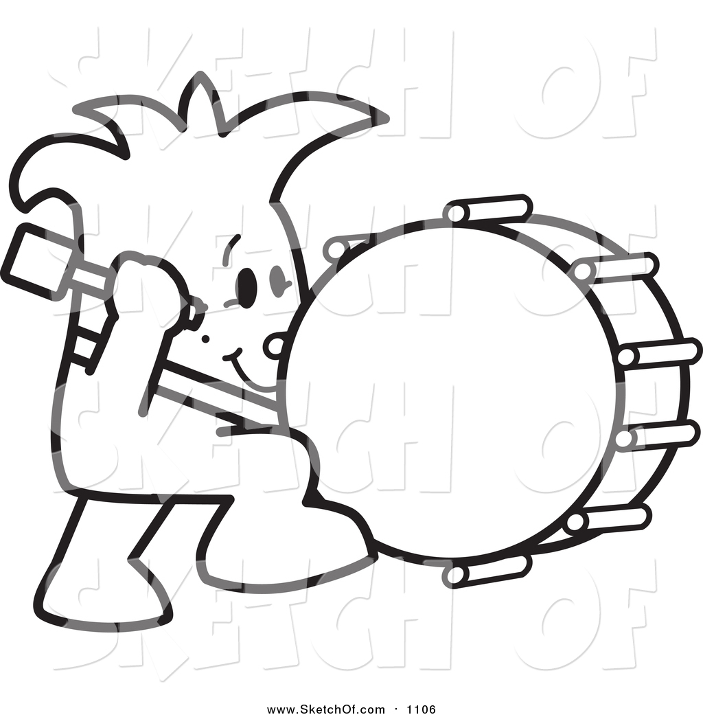 1024x1044 Drawing Of A Sketched Squiggle Guy Stuck Beating The Drum By