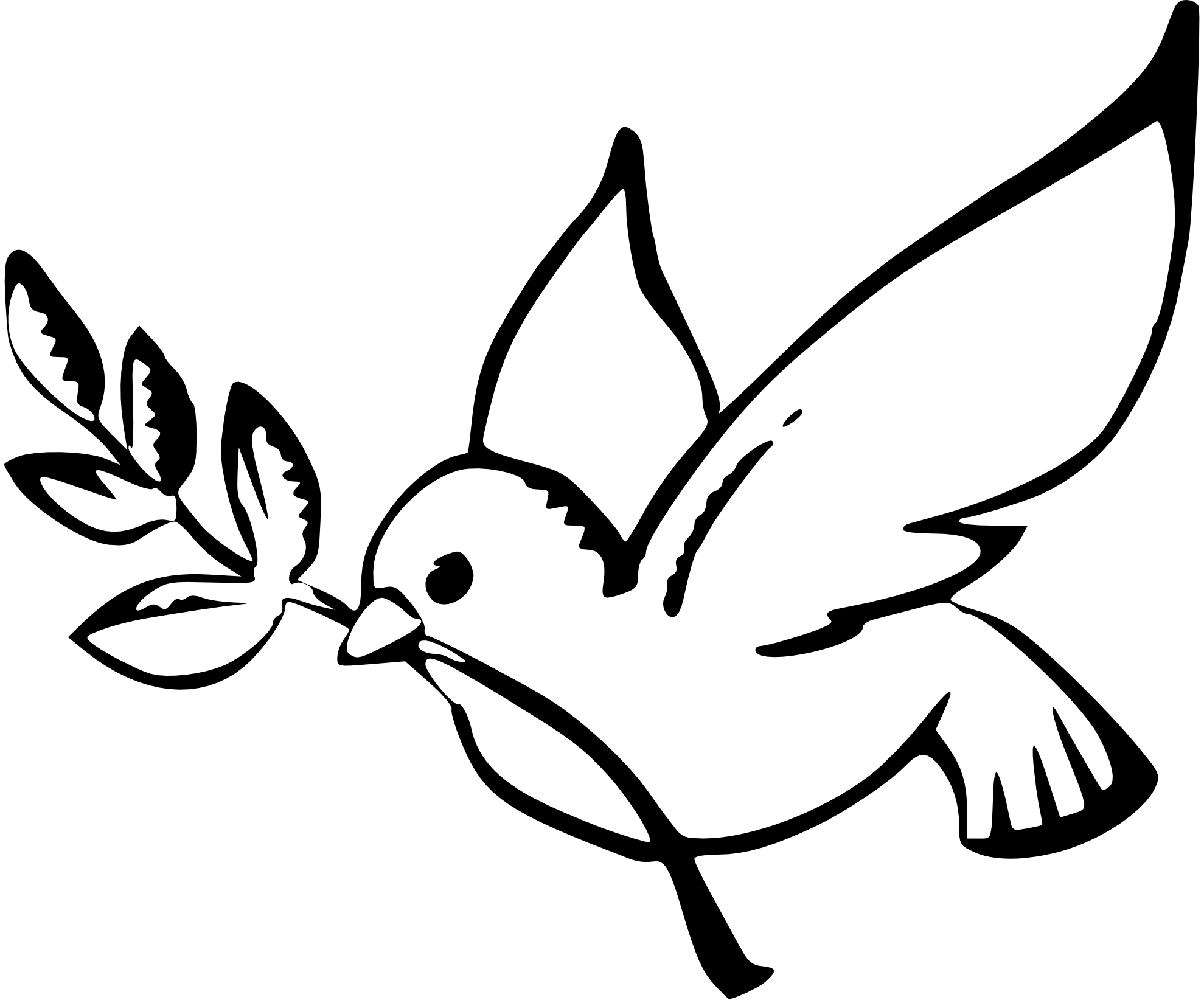 1979x1649 Dove Clipart Line Drawing