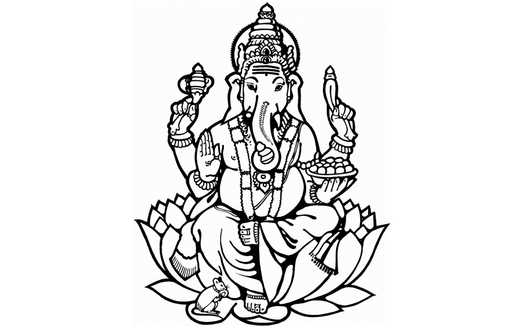 1024x640 Drawing With Pencil Ganesh Laxmi Ganesh Clip Art
