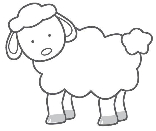 546x459 Farm Animals Clipart Line Drawing