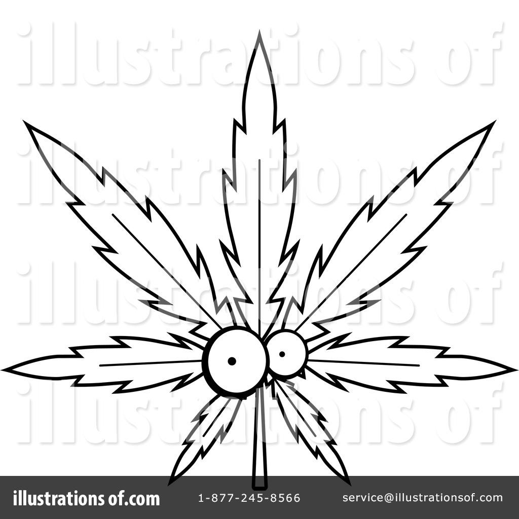 1024x1024 Marijuana Clipart Leaf Draw