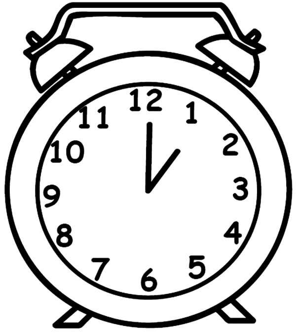 600x674 Drawing Clock Coloring Pages Best Place To Color