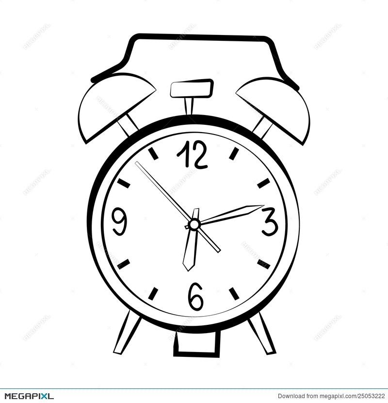 800x830 Drawing Of Alarm Clock Unique Alarm Clock
