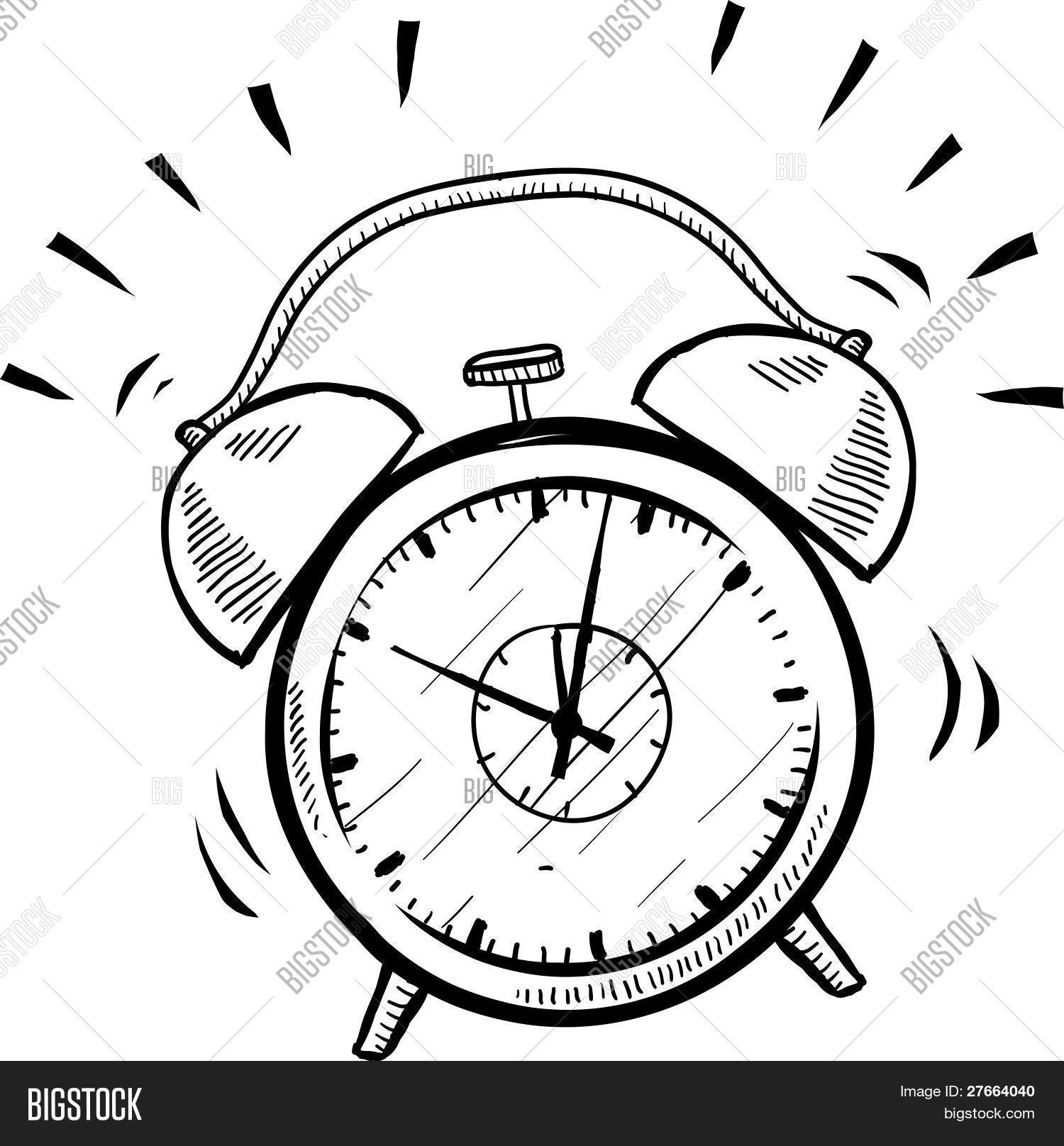 1500x1616 Drawing Of An Alarm Clock Unique Alarm Clock