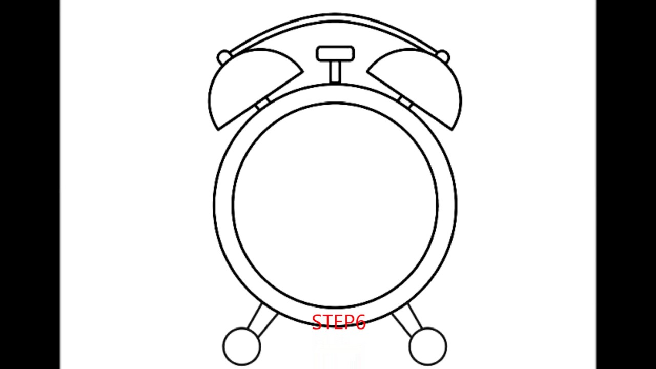 1280x720 How To Draw An Alarm Clock
