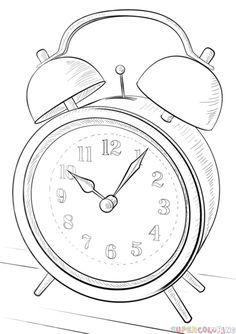 236x334 How To Draw An Alarm Clock Drawing Tutorial Drawing