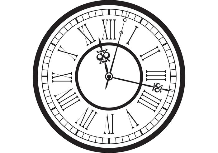 700x490 Vintage Old Clock Vector