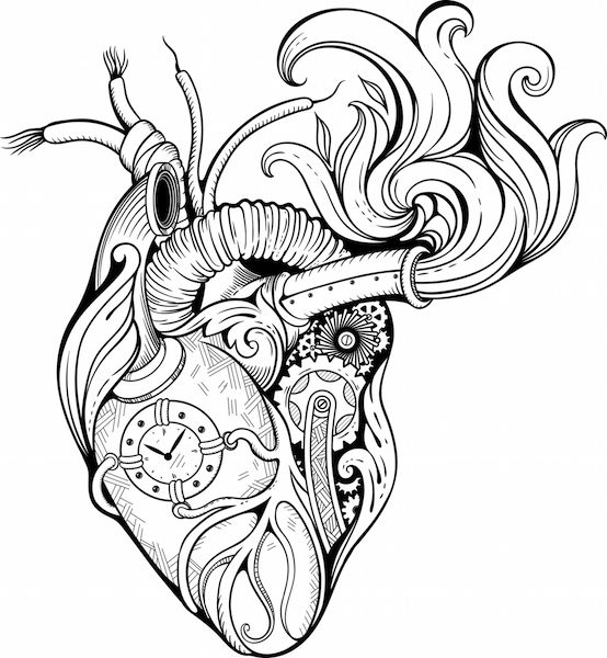 554x600 Collection Of Melting Clock Tattoo Drawing