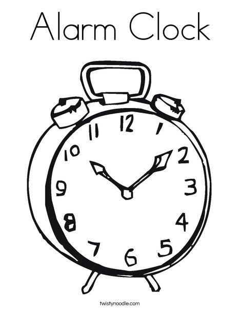 468x605 Alarm Clock Coloring Page