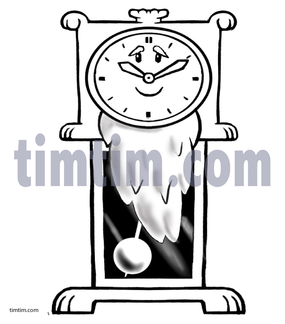571x649 Free Drawing Of Grandfather Clock Bw From The Category Building