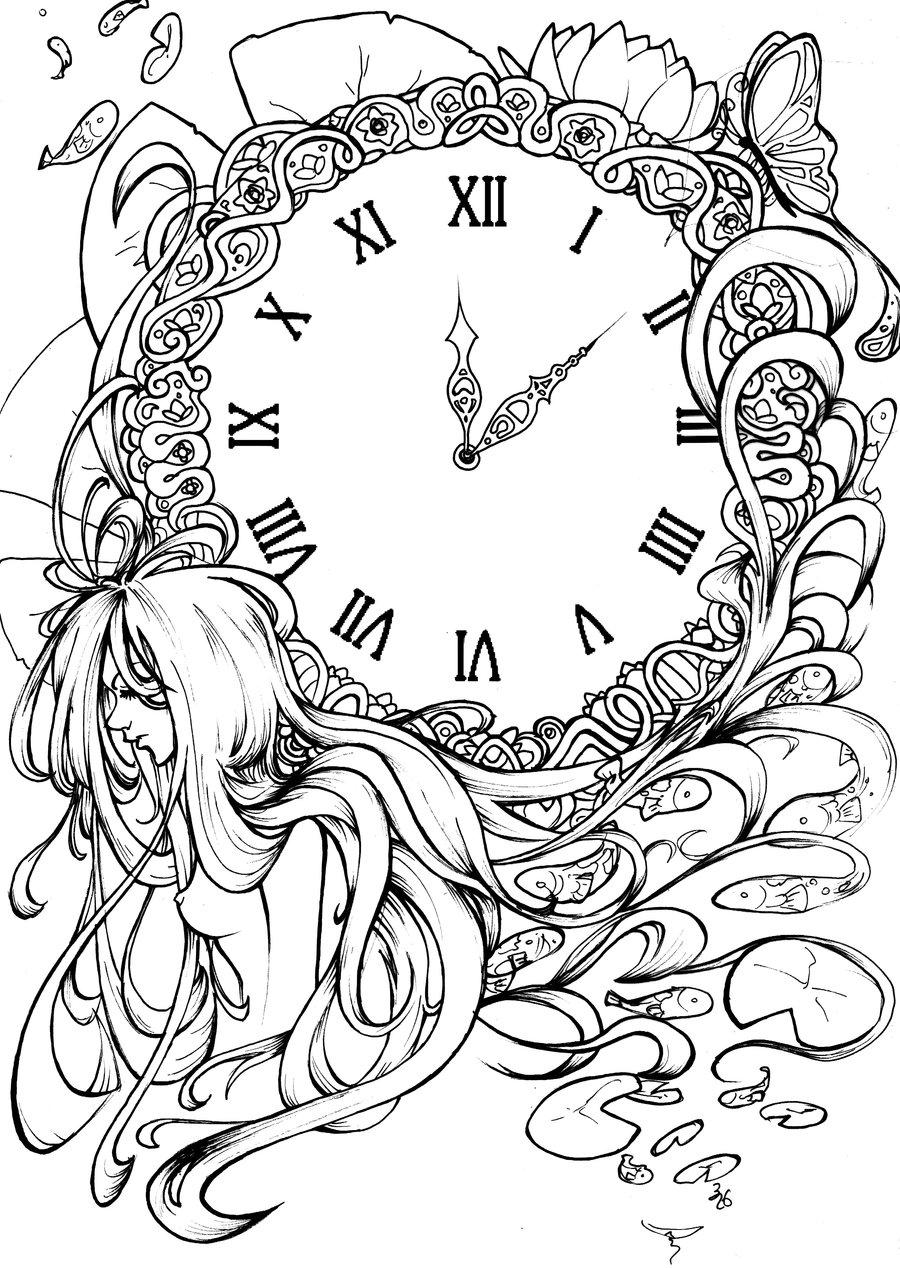 900x1268e Clock Ink By 326kamechan