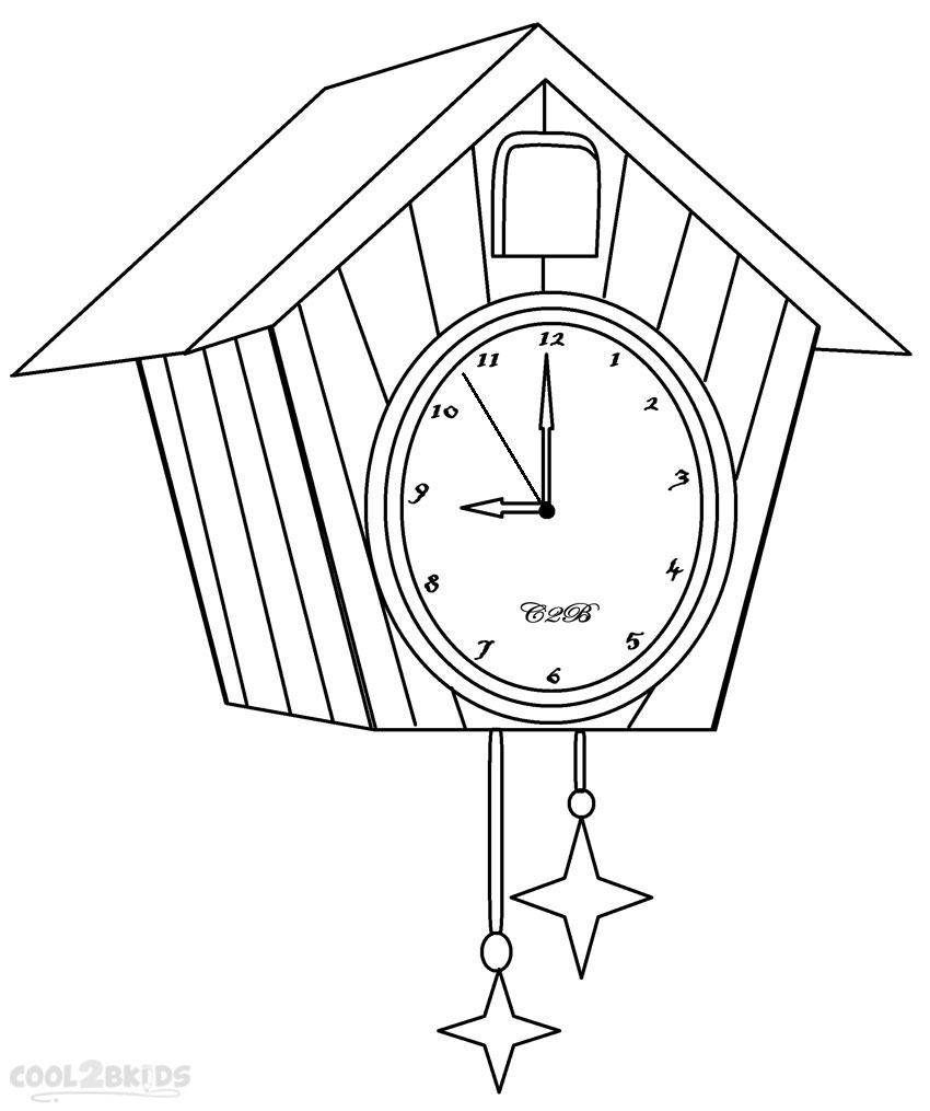 850x1015 Printable Clock Coloring Pages For Kids Cool2bKids