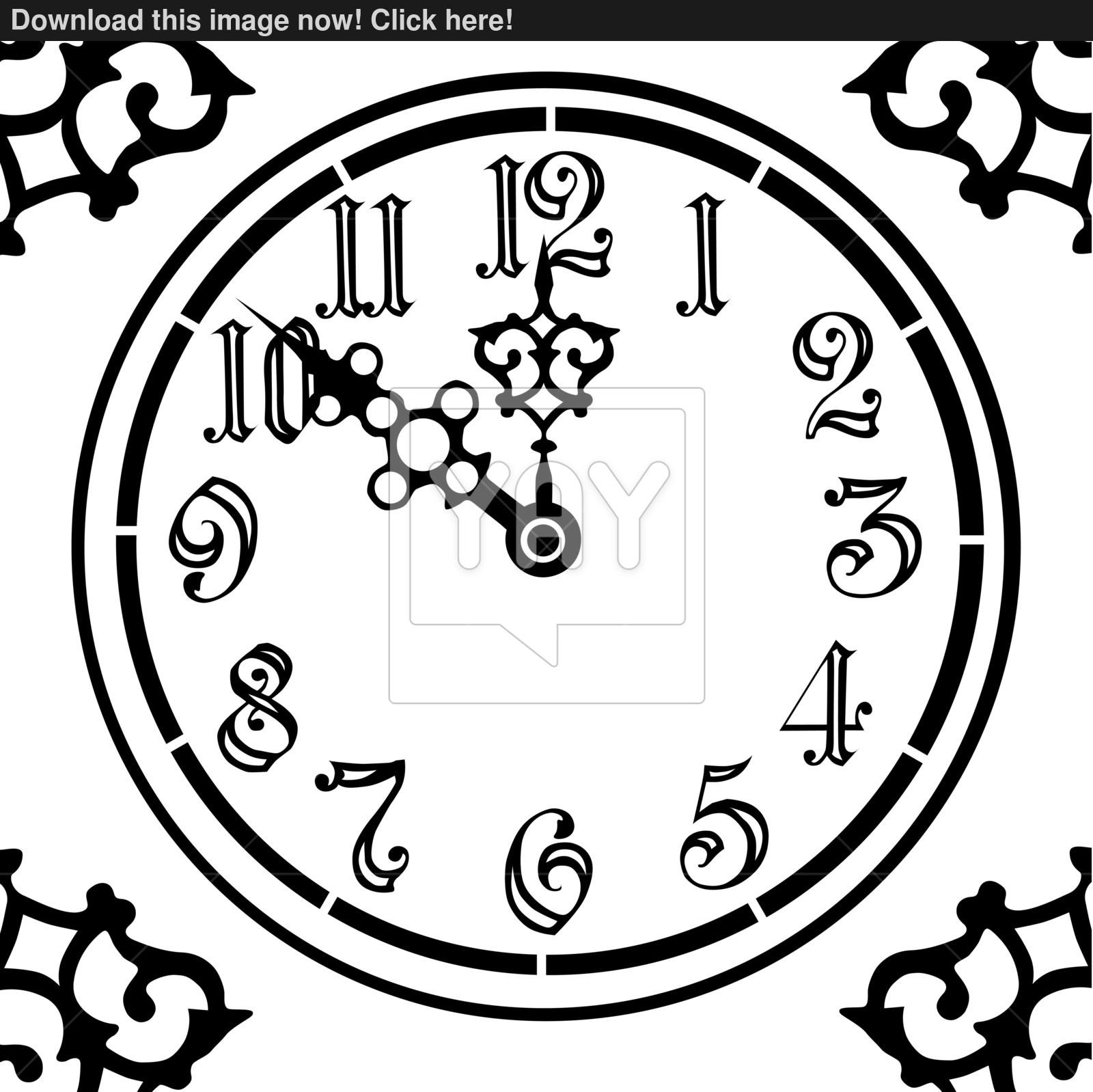 1600x1598 Vintage Clock Vector