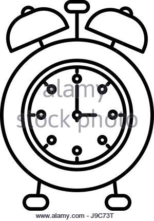 300x430 Cartoon Vector Illustration Of Classic Alarm Clock Ringing In 5am