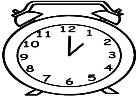 476x333 Clock Coloring Page Grandfather In The House Analog Clock Coloring