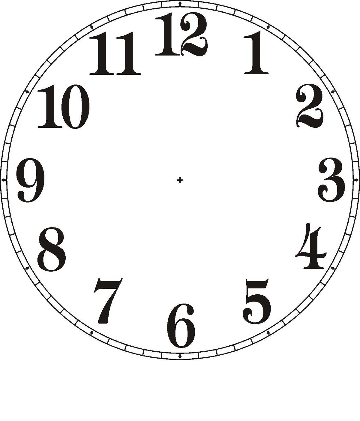 1200x1403 Clock Face Image Printable To Learn Telling Time Learning Printable