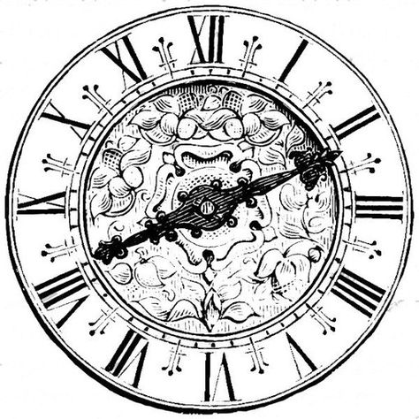 474x474 Clock Face With Roman Numerals Clock Faces, Roman And Clocks