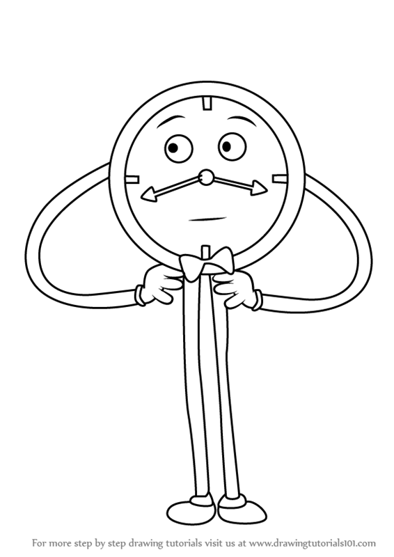 566x800 Learn How To Draw Tony The Talking Clock From Don'T Hug Me I'M