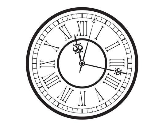 541x410 Roman Numeral Clock Face Vector