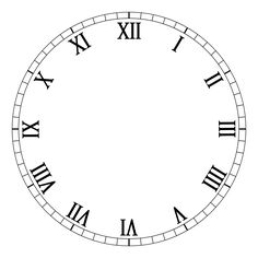 236x236 Art Clock Face Template Drawing In Powerpoint Clock Icons