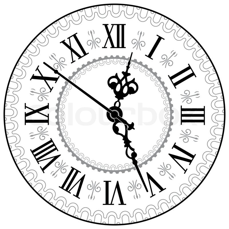 800x800 Antique Clock Stock Vector Colourbox