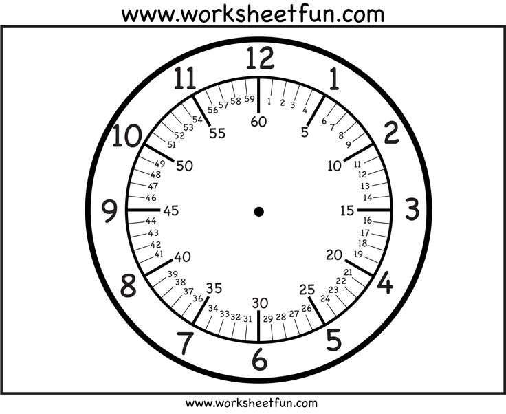 It's just a photo of Printable Clock Faces for Crafts for rectangular