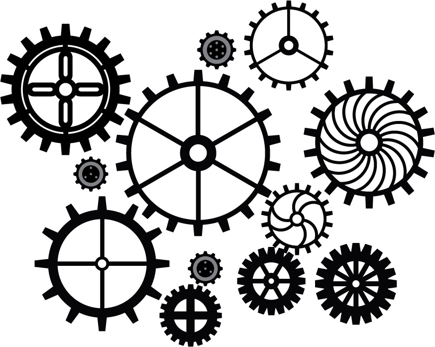 874x697 Gears Vector By Deadly Ink